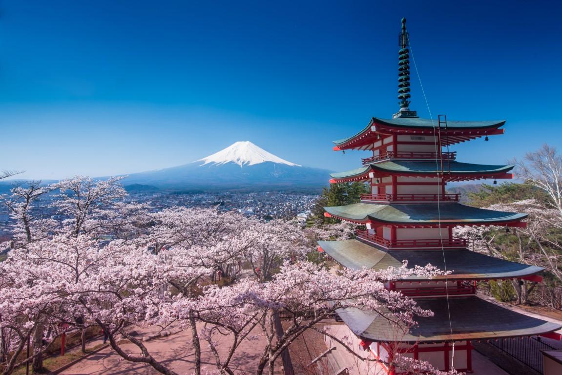 Mont Fuji volcan japonais