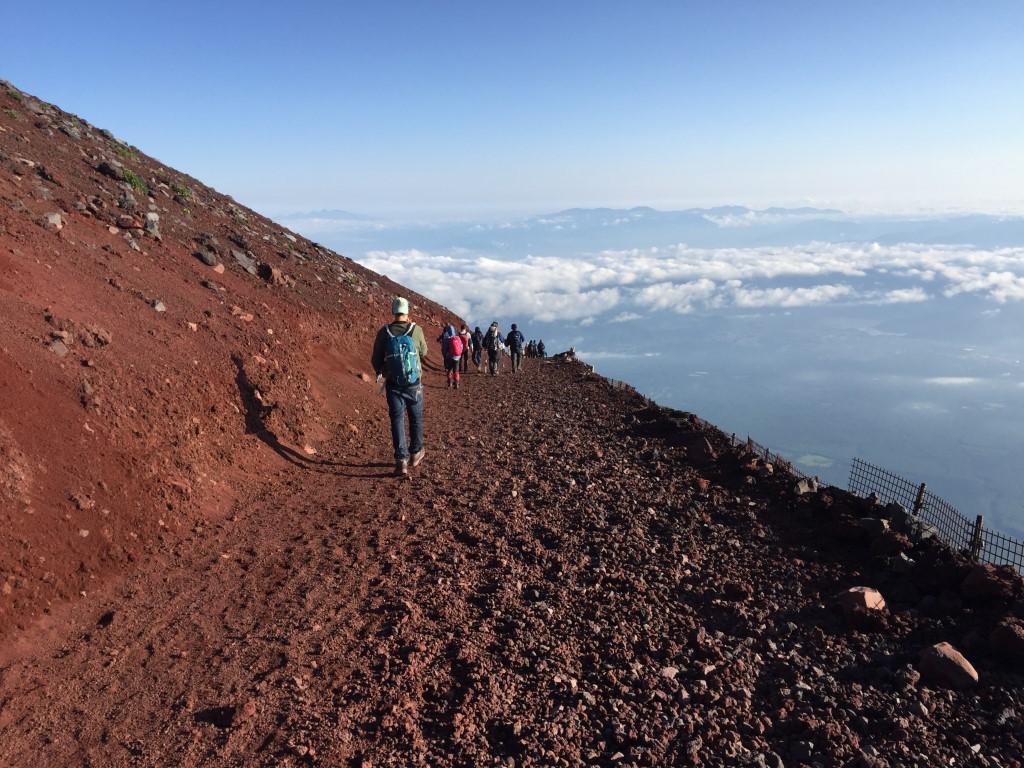 voie de randonnée sur le mont Fuji